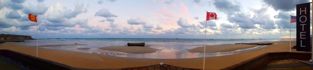 Sunrise over Gold Beach in Arromanches-les-Bains