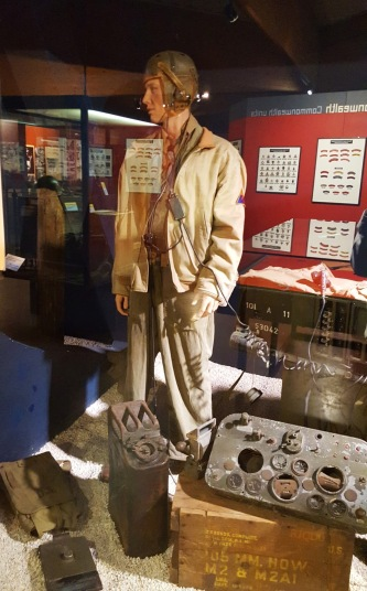 American tank crew uniform at the Musee Memorial de la Bataille de Normandie