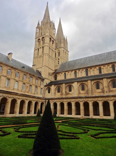The cloister at l'Abbaye des Hommes in Caen, France