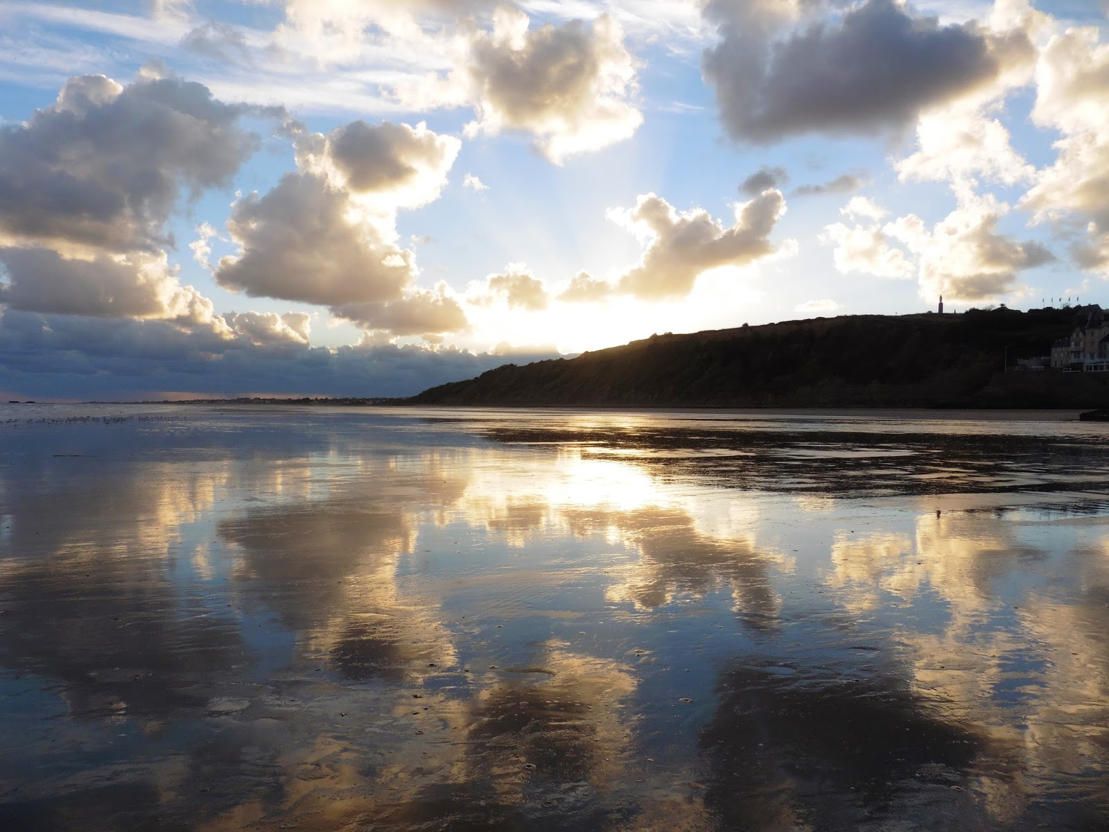 Gold Beach in Arromanches-les-Bains, France