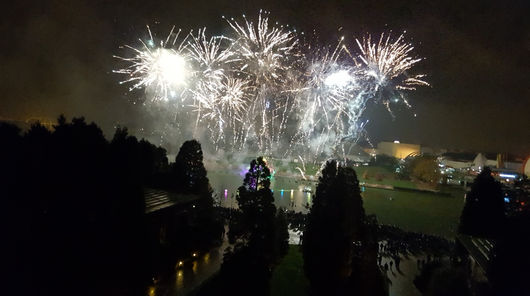 Fireworks from Disney's Sequoia Lodge in Disneyland Paris