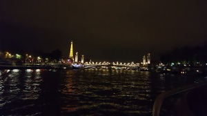 Evening cruise on the River Seine in Paris