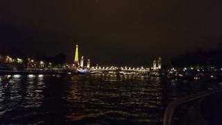 Evening cruise on the River Seine in Paris