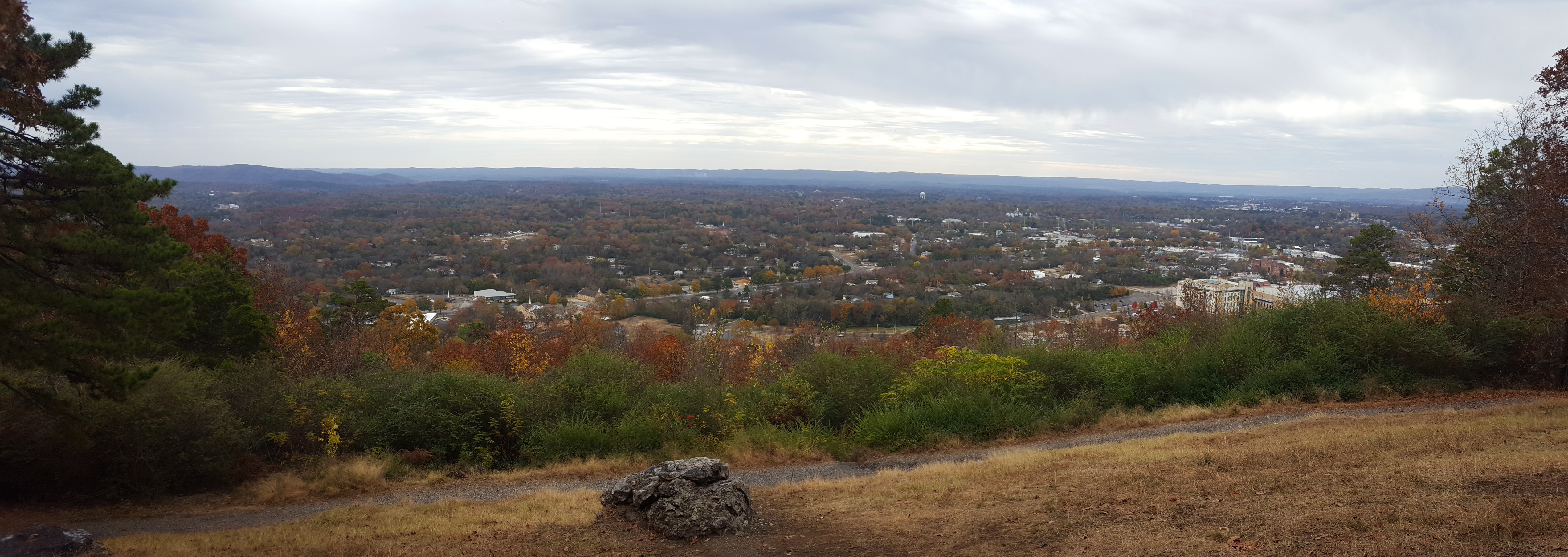 View from the top of the mountain in Hot Springs, Arkansas