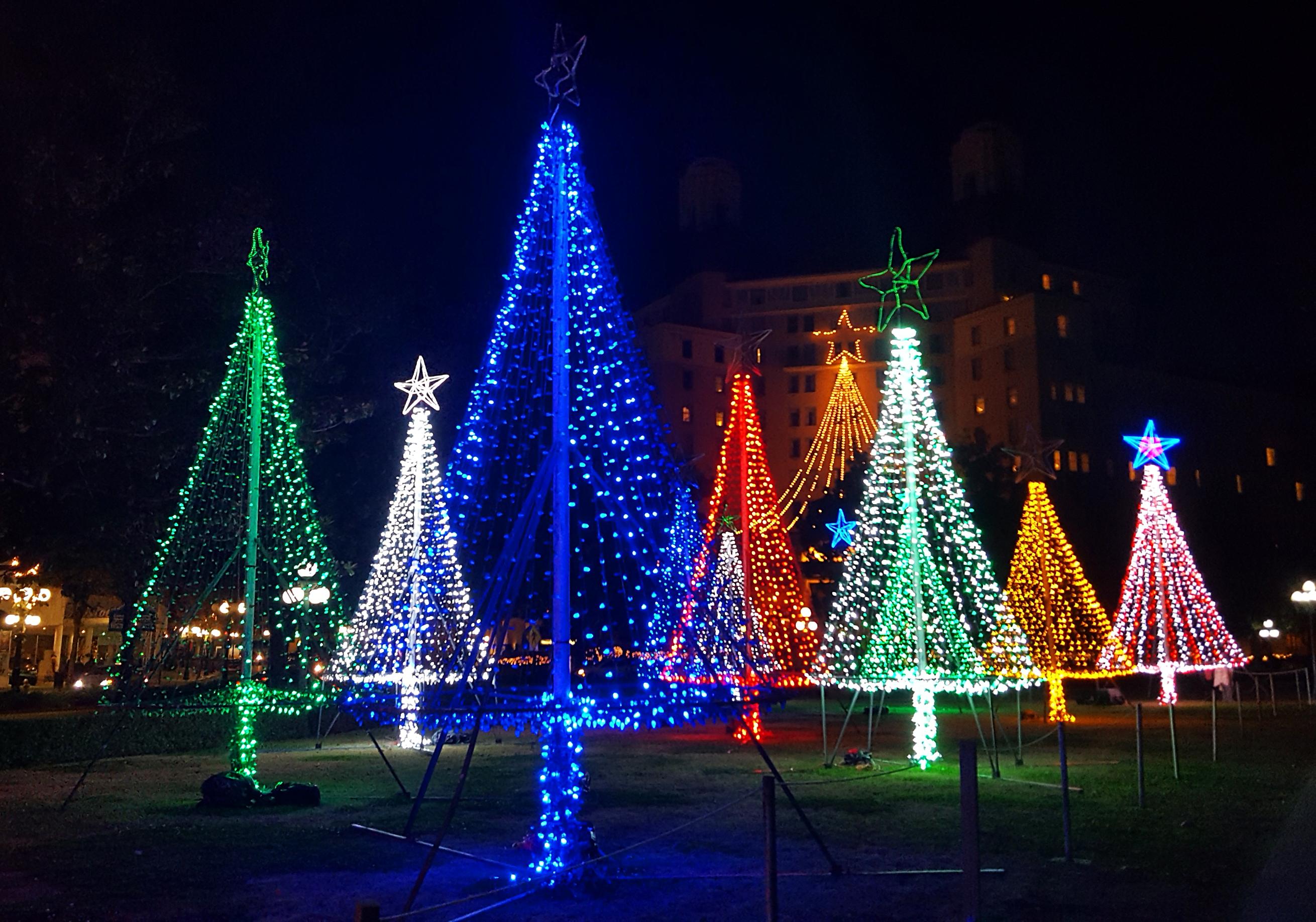 Christmas lights in Hot Springs, Arkansas