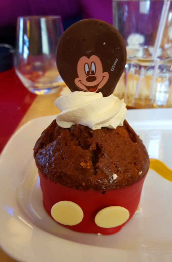 Mickey cupcake at Cafe Mickey at the Disney Village in Disneyland Paris