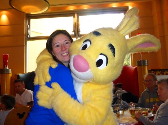 Rabbit at Cafe Mickey at Disneyland Paris' Disney Village