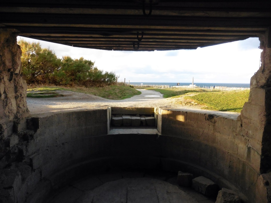 German bunker at Pointe du Hoc in Normandy, France
