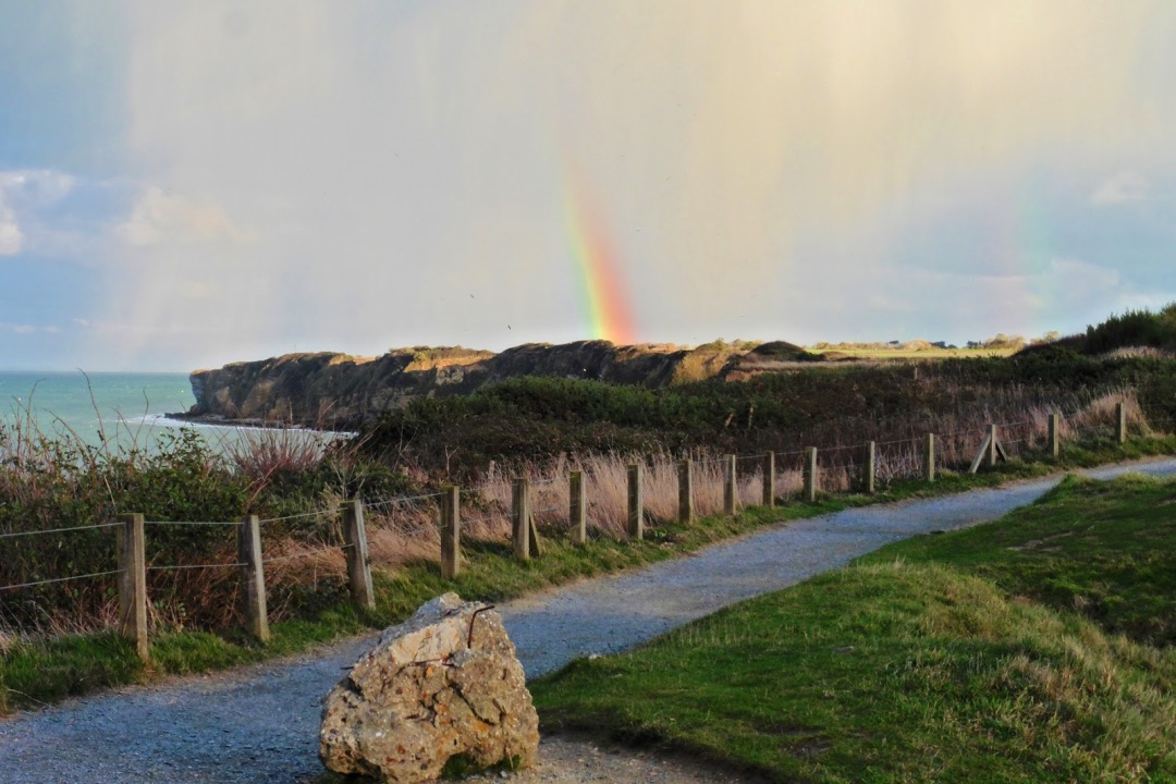 Rainbow over Omaha Beach