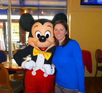 Mickey Mouse at Cafe Mickey at Disneyland Paris' Disney Village