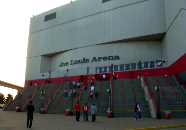 Joe Louis Arena in Detroit, Michigan