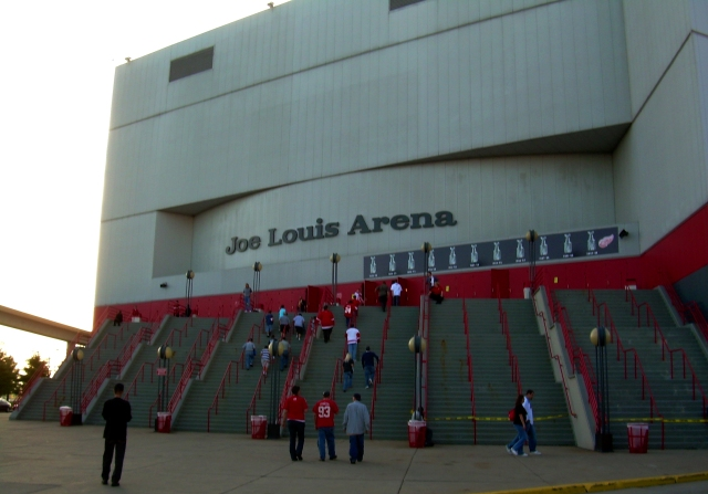Joe Louis Arena in Detroit, Michigan