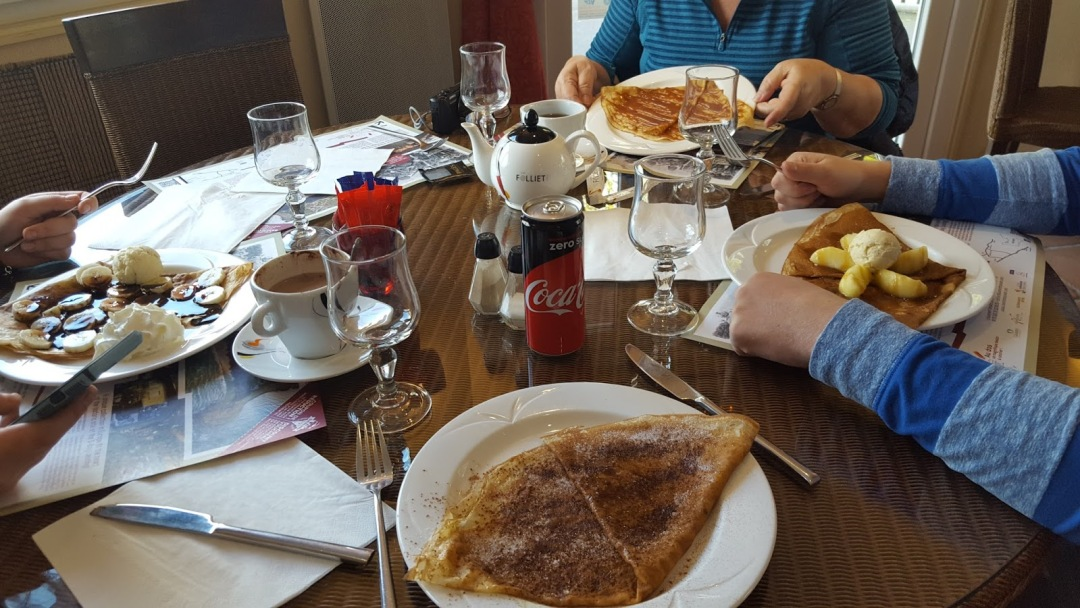Crepes at a restaurant in Normandy, France
