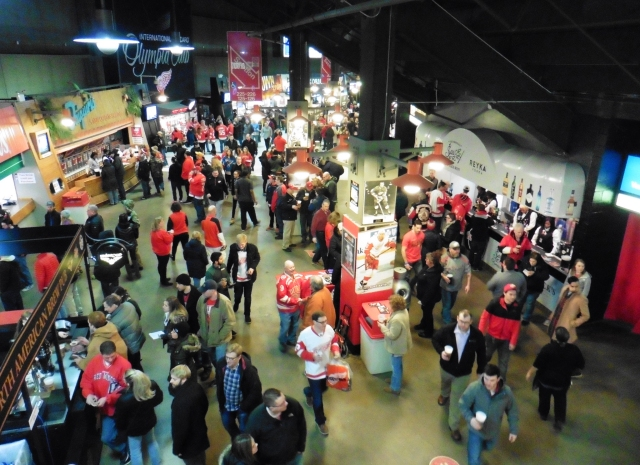 Concourse at Joe Louis Arena in Detroit, Michigan