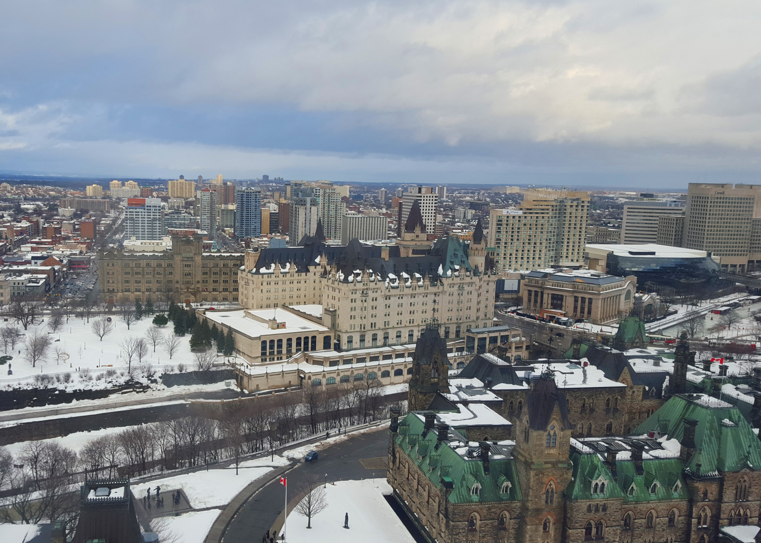 View of the Rideau Canal in Ottawa, Ontario
