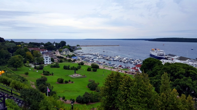 View from Fort Mackinac on Mackinac Island, Michigan - Visit Michigan in the spring