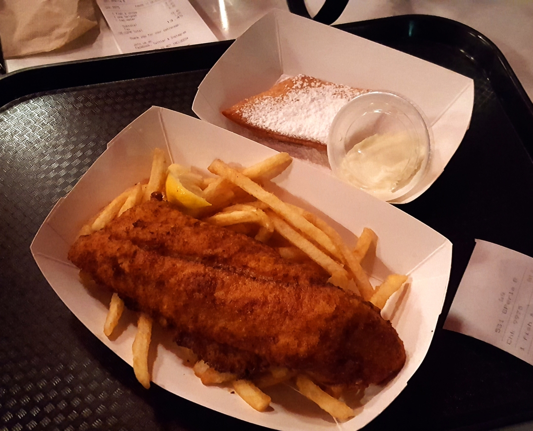 Fish and Chips at Tugboat Sally's in San Francisco, California