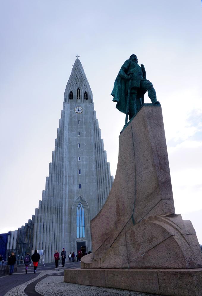 Hallgrímskirkja in Reykjavik, Iceland