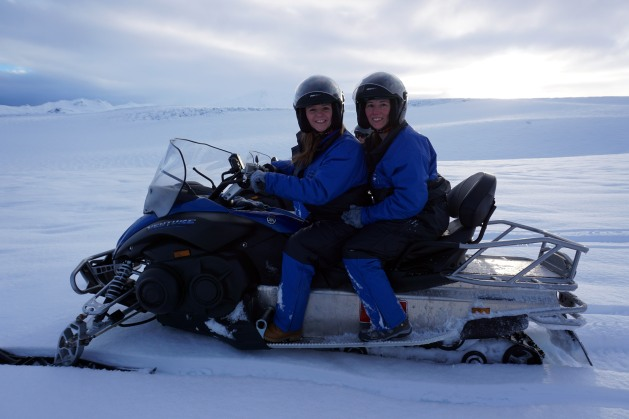Snowmobiling on Vatnajokull Glacier