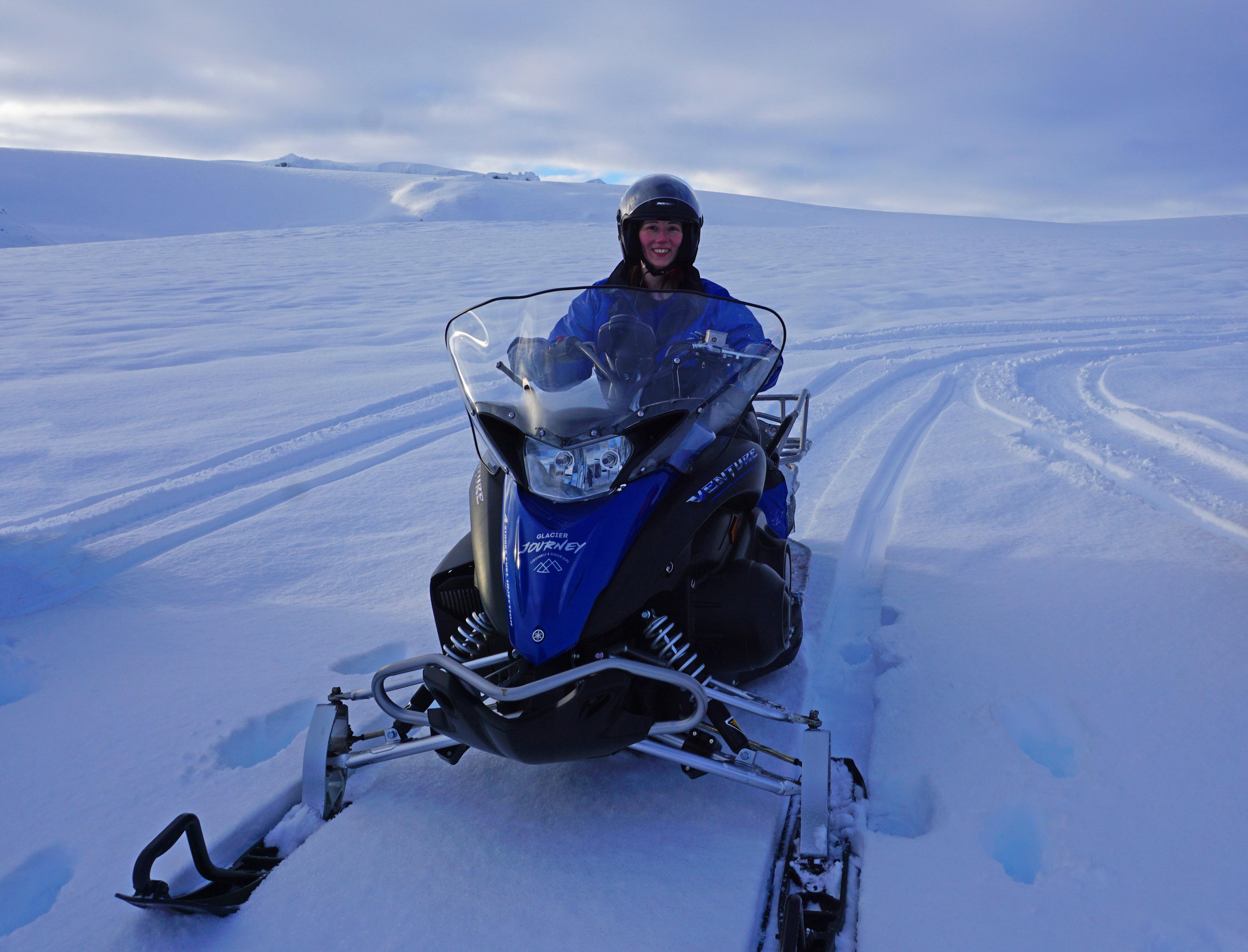 Snowmobiling on Vatnajokull Glacier