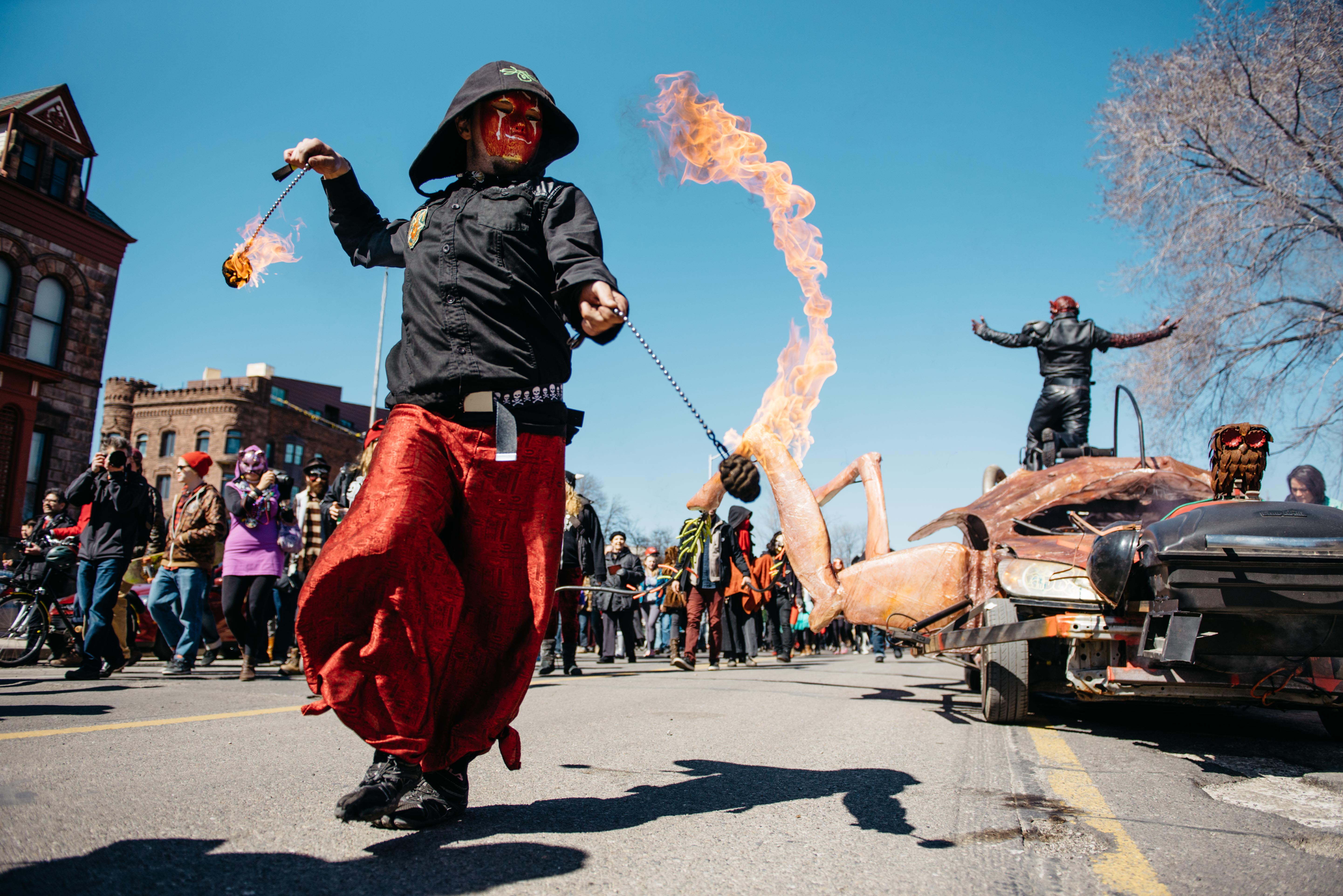 Marche du Nain Rouge in Detroit, Michigan - Spring events in Detroit