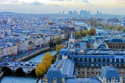 Paris, France from the top of Notre Dame
