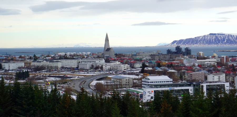 View of Reyjkavik from the Perlan observation platform