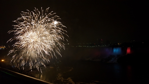 Fireworks display at Niagara Falls