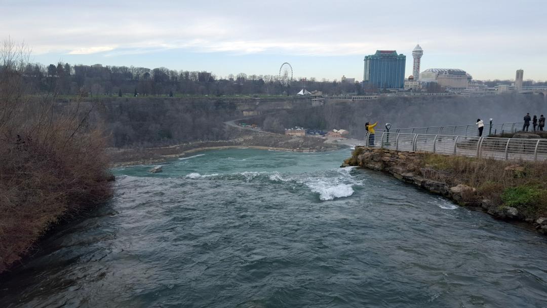 Bridal Veil Falls in Niagara Falls State Park in Niagara Falls, New York