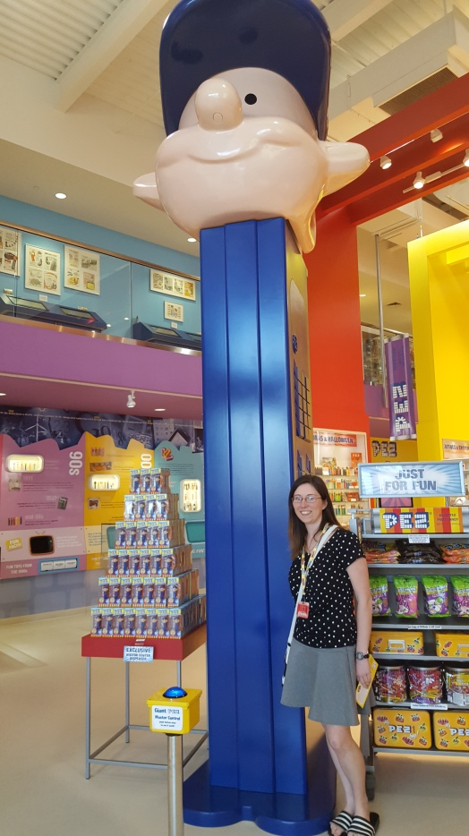 Giant Pez dispenser at the Pez Visitor Center in Orange, CT
