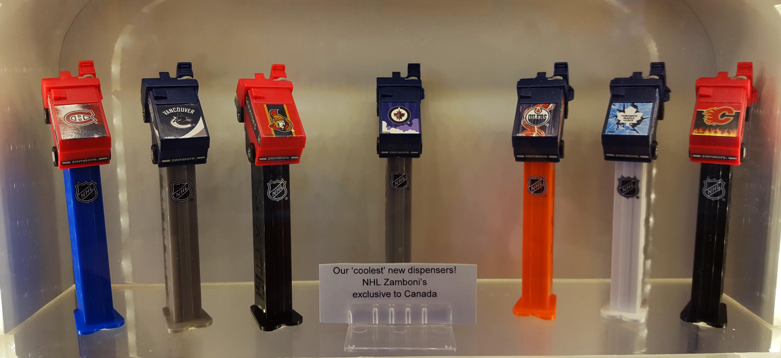 Zamboni Pez dispensers at the Pez Visitor Center in Orange, CT