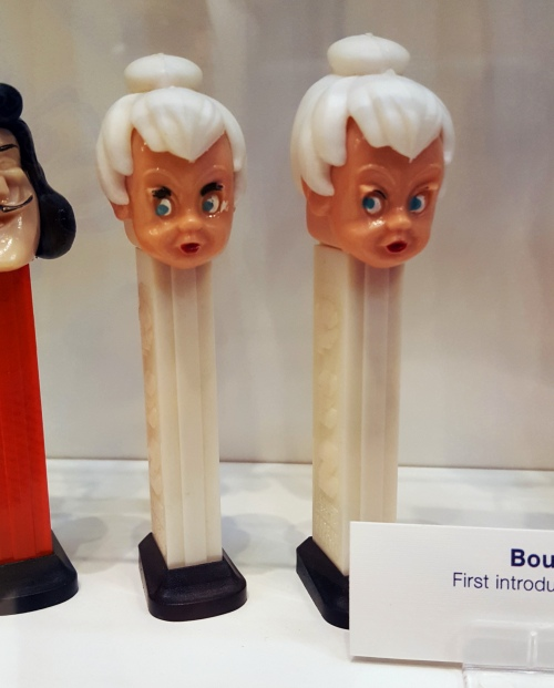 Vintage Tinkerbell Pez dispensers at the Pez Visitor Center in Orange, CT