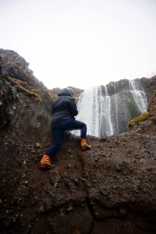 View from the top of Gljúfrabúi, Iceland's hidden waterfall