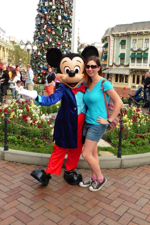 Mickey Mouse at Disneyland in Anaheim, California