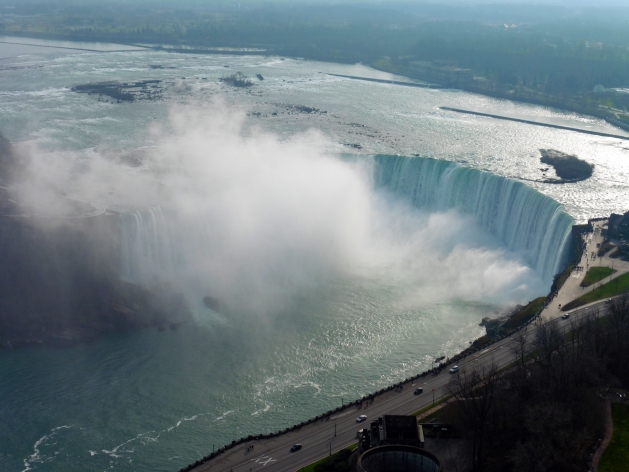 Horseshoe Falls in Niagara Falls, Canada from the Skylon Tower