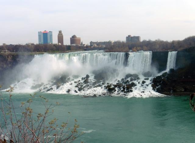 American Falls and Bridal Veil Falls in Niagara Falls, New York