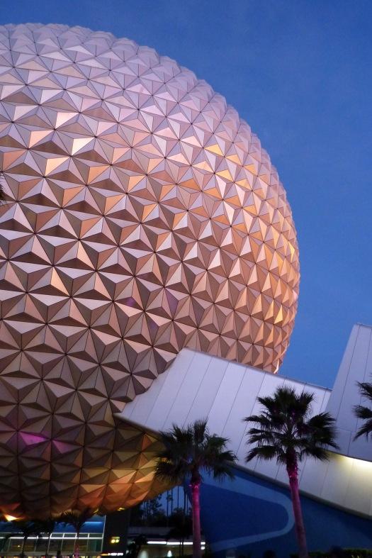 Spaceship Earth in Epcot at Walt Disney World in Orlando, Florida