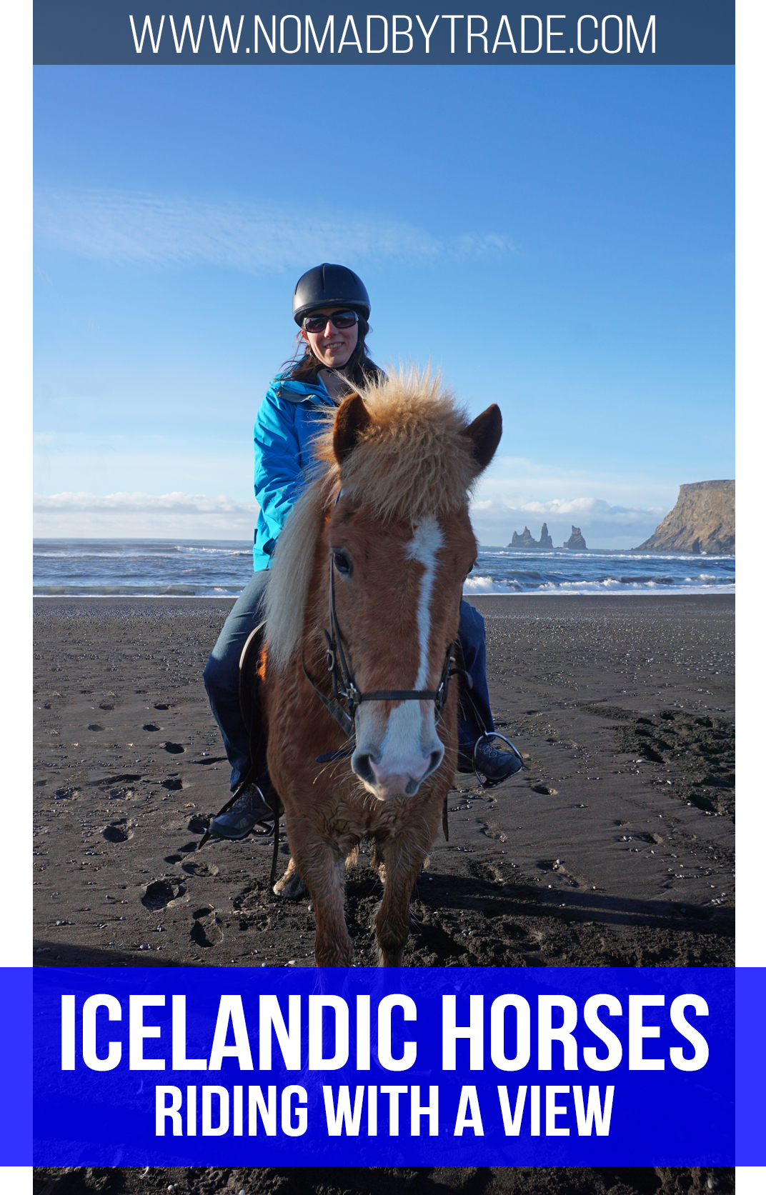 Horseback riding on a black sand beach in Vik is the best way to get close to Iceland's famous and adorable Icelandic horses.