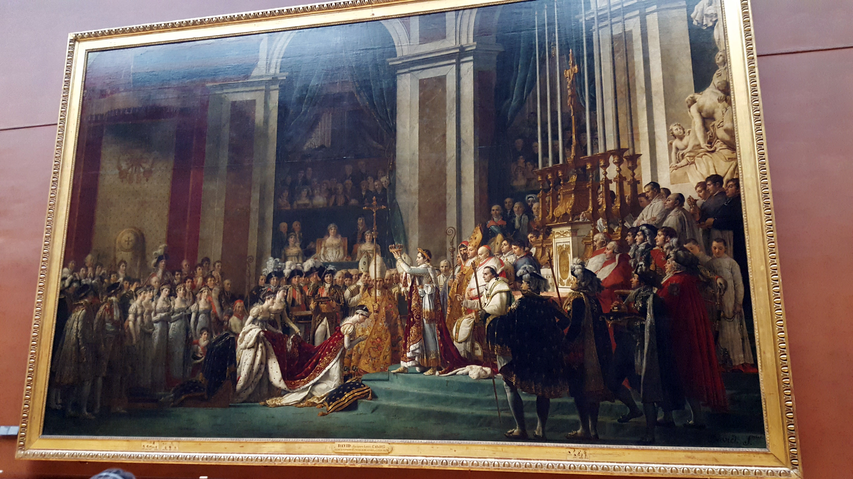 The Coronation of Napoleon in the Louvre in Paris, Frace