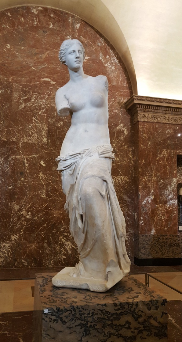 The Venus de Milo in the Louvre in Paris, France