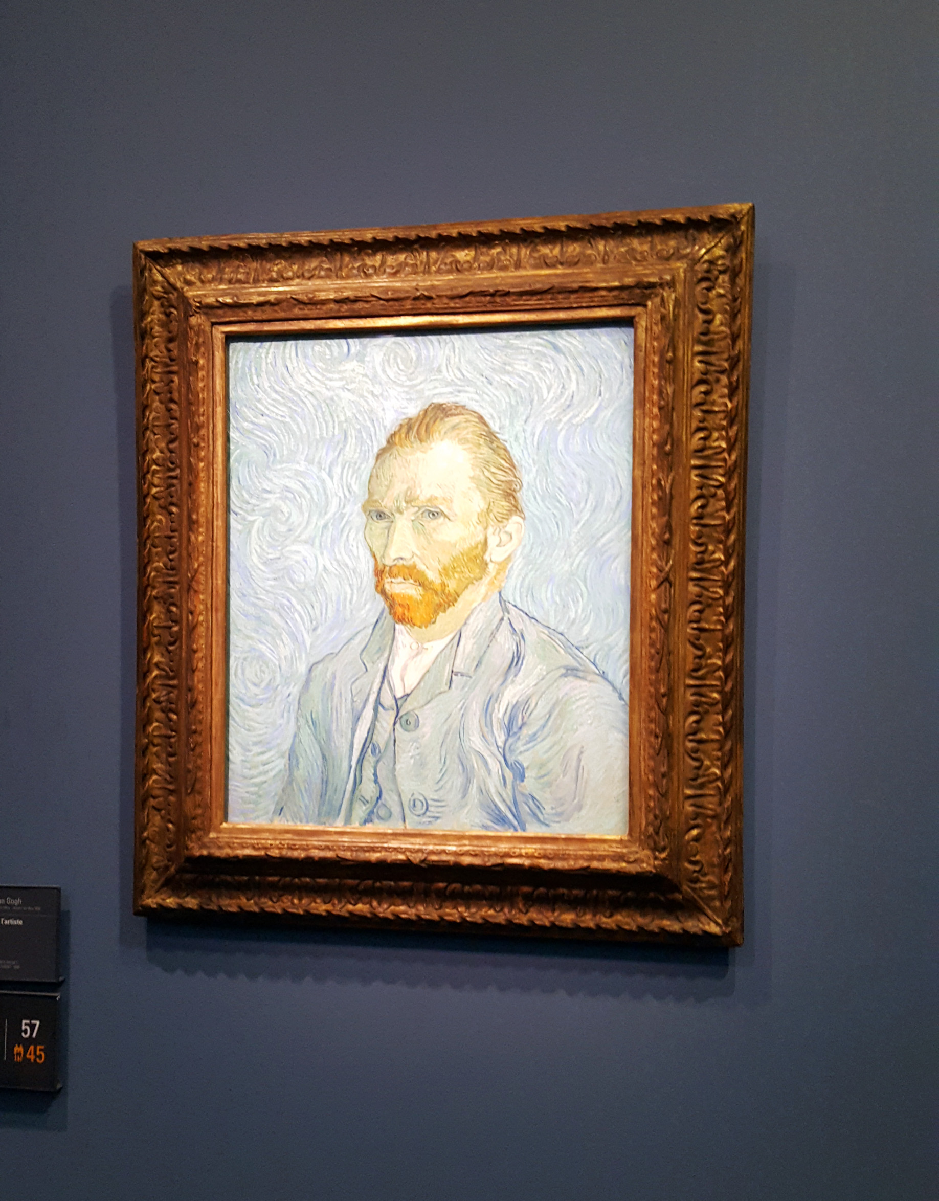 Painting by Van Gogh at the Musee d'Orsay in Paris, France - visiting the Musee d'Orsay at night