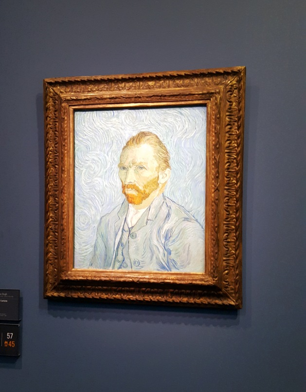 Painting by Van Gogh at the Musee d'Orsay in Paris, France