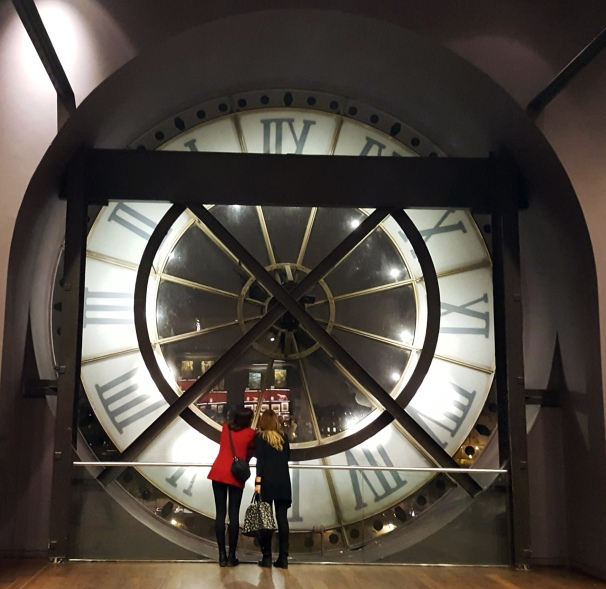 Giant clock at the Musee d'Orsay in Paris, France