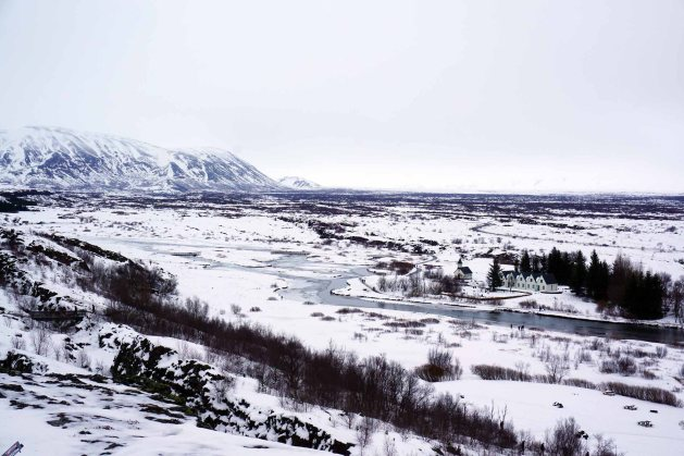 Rift valley in Þingvellir National Park in Iceland, part of the Golden Circle