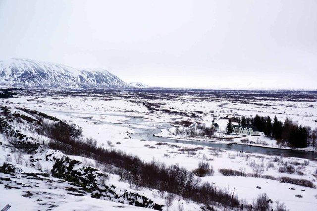 Rift valley in Þingvellir National Park in Iceland, part of the Golden Circle