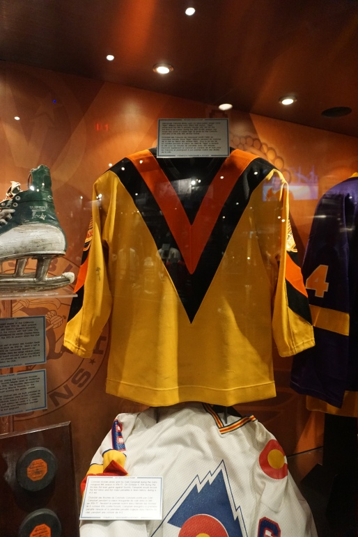 Vancouver Canucks jersey on display at the Hockey Hall of Fame in Toronto, Ontario