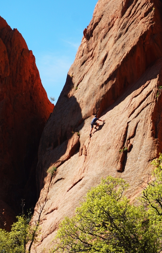 First timer 39 s guide to the garden of the gods nomad by trade for Garden of the gods rock climbing