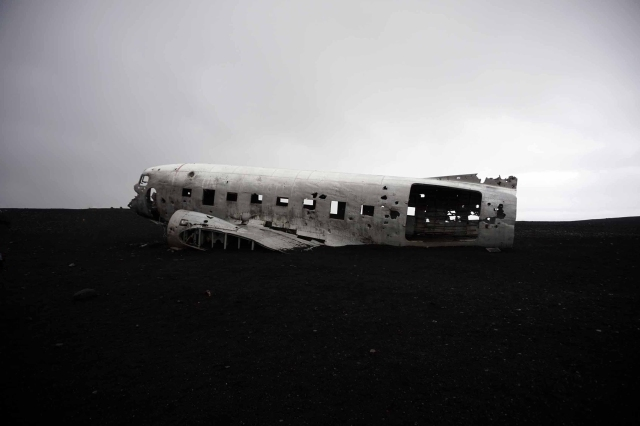 DC-3 plane wreckage in Iceland