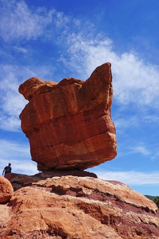 Balanced Rock in Garden of the Gods Colorado Springs