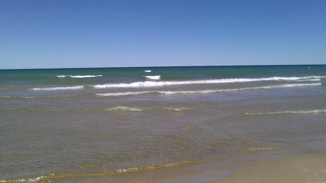 Beach on Lake Huron in Oscoda, MIchigan